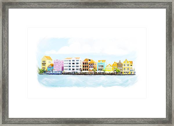 Willemstad Curacao Skyline Framed Print