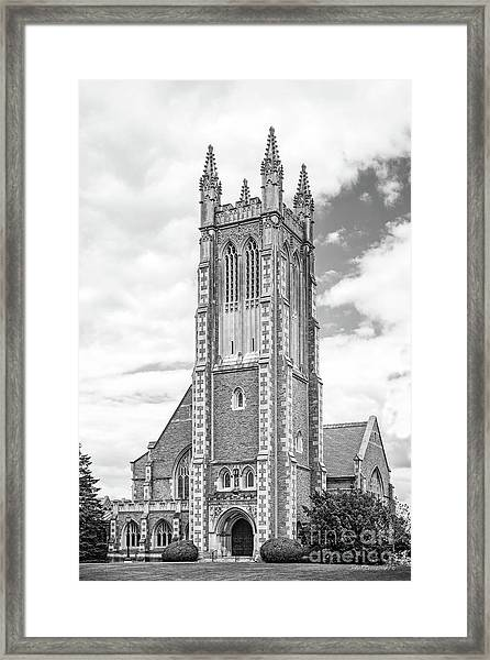 Williams College Thompson Memorial Chapel Framed Print