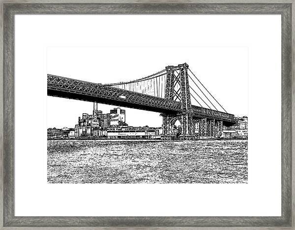 Williamsburg Bridge 1.1 - New York Framed Print
