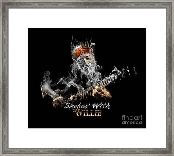 Willie Smoken' Framed Print