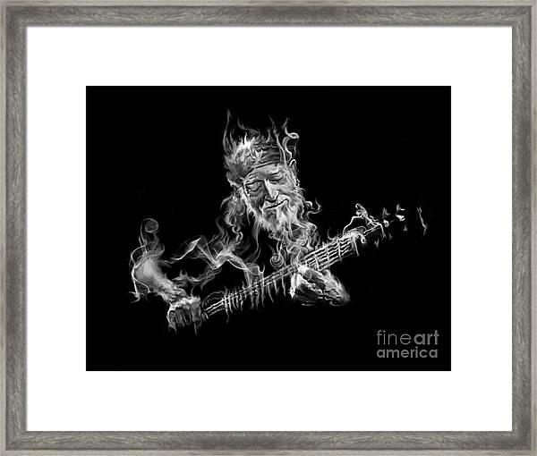 Willie - Up In Smoke Framed Print