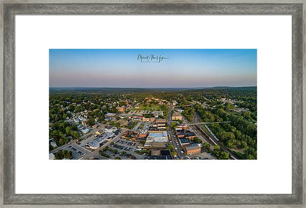Willimantic Panorama Framed Print