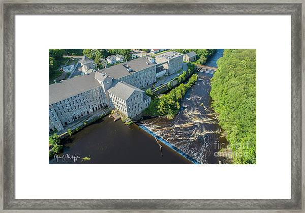 Willimantic River And Mill #2 Framed Print