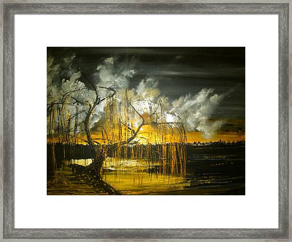 Willow On The Shore Framed Print