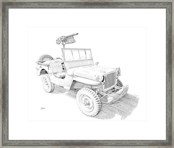Willy In Ink Framed Print