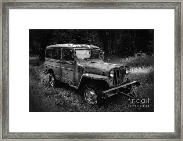 Willys Jeep Station Wagon Framed Print