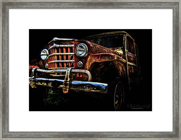 Framed Print featuring the photograph Willy's Station Wagon by Glenda Wright