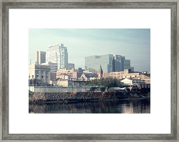 Wilmington From The Brandywine Framed Print