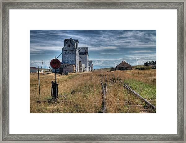 Wilsall Grain Elevators Framed Print