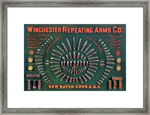 Winchester 1884 Cartridge Board Framed Print