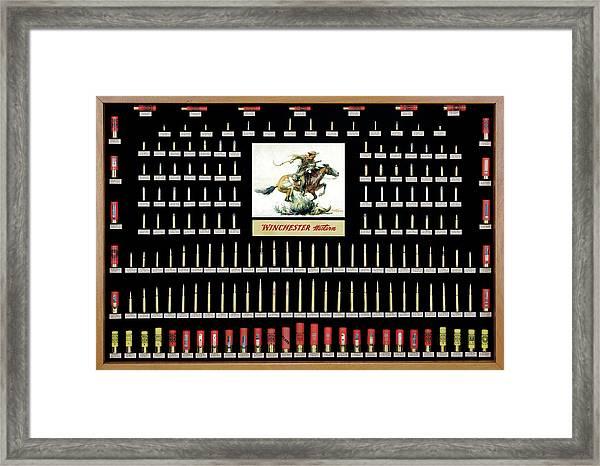 Winchester Ammunition Cartridge Board Framed Print