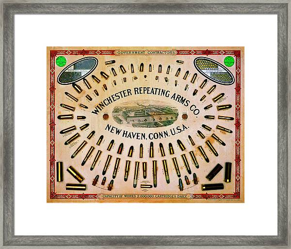 Winchester Government Contractor Cartridge Board Framed Print