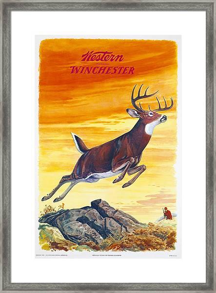 Winchester Western Whitetail Hunter Framed Print