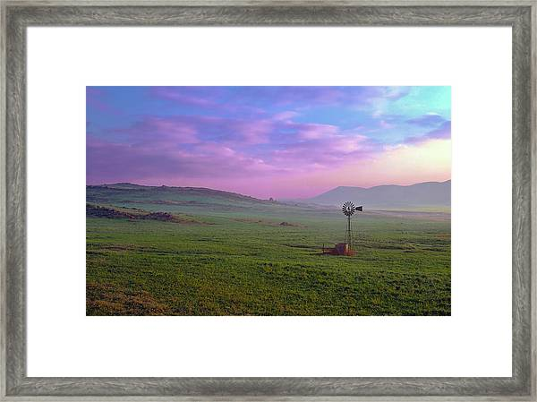 Winchester Windmill Pano View Framed Print