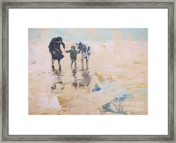 Wind And Kids Framed Print