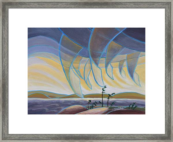 Wind And Rain Framed Print