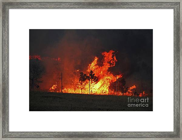 Wildfire Flames Framed Print