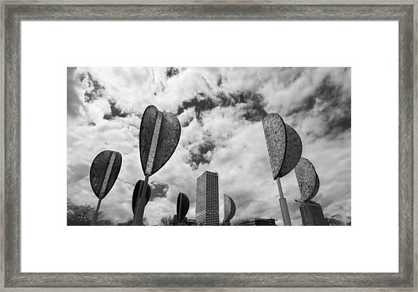 Wind Leaves Framed Print