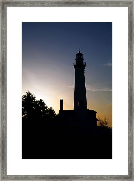 Wind Point Framed Print