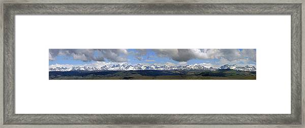 Dm9504-wind River Range Panorama  Framed Print