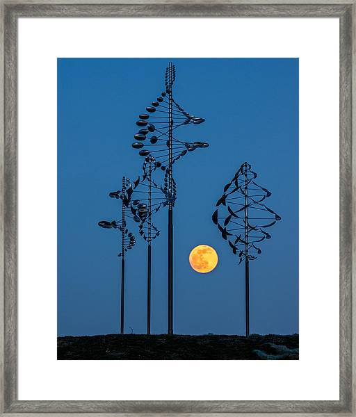 Wind Sculptures At Wilkeson Pointe Framed Print