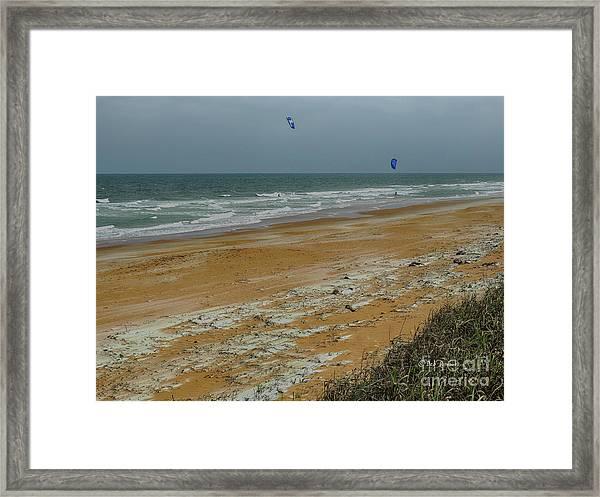 Wind Surfing In Flagler Framed Print