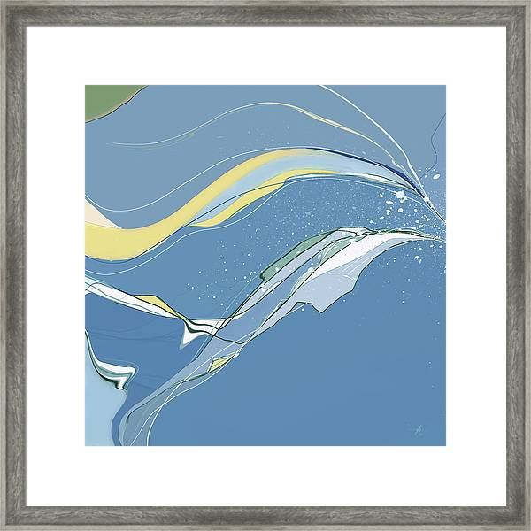Framed Print featuring the digital art Windblown by Gina Harrison