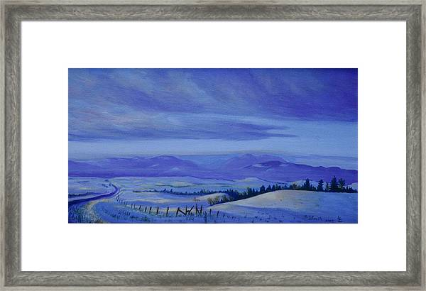 Winding Roads Framed Print