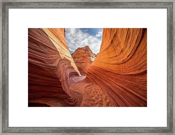 Winding Stripes Of Sandstone Framed Print