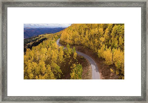 Winding Through Fall Framed Print