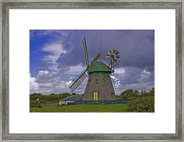 Windmill Amrum Germany Framed Print