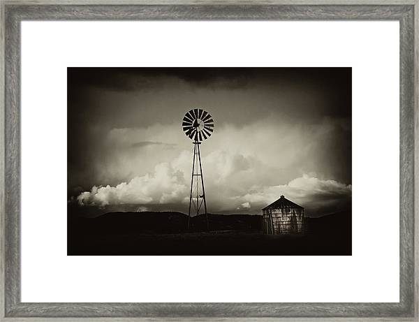 Windmill And Tank Framed Print by Gus McCrea