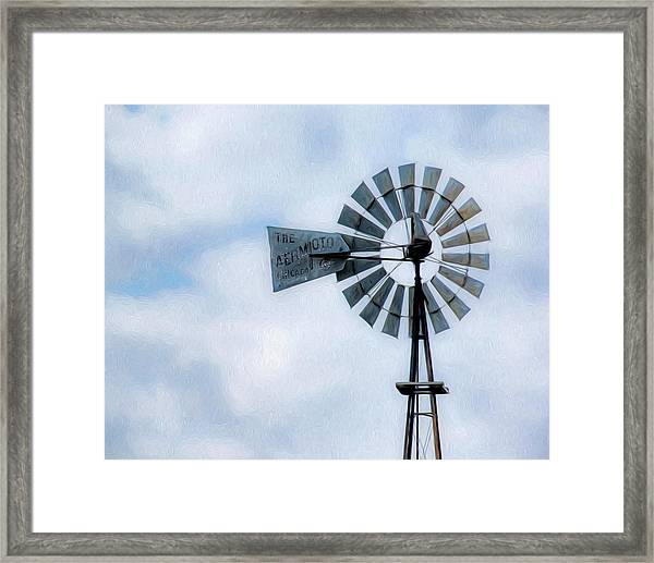 Framed Print featuring the photograph Windmill Art -010 by Rob Graham