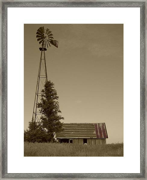 Framed Print featuring the photograph Windmill II by Dylan Punke