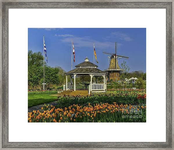 Windmill Island Gardens  Framed Print