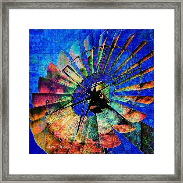 Windmill Power Framed Print