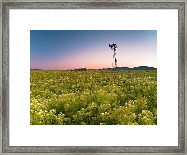 Windmill Sunset Framed Print