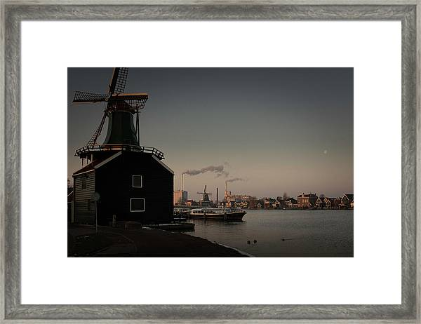 Windmill Town Framed Print