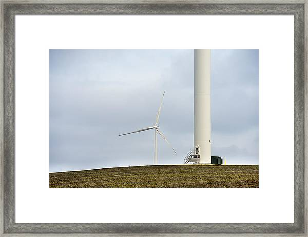 Windmills Great And Small Framed Print