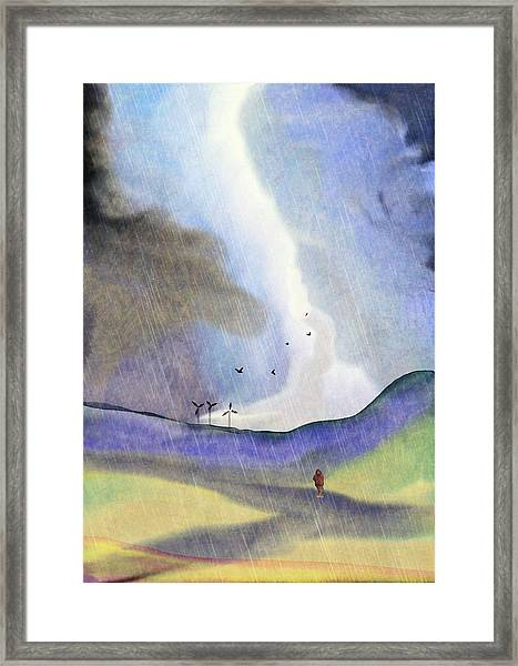 Windmills Of The Mind Framed Print