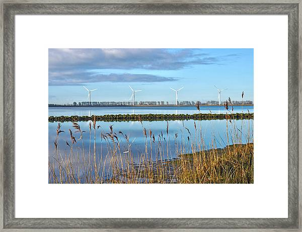Windmills On A Windless Morning Framed Print