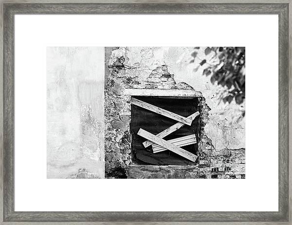 Window #2895 Framed Print