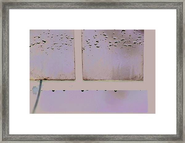 Window And Raindrops Framed Print