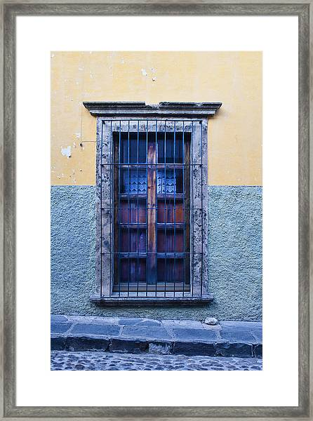 Window And Textured Wall Framed Print