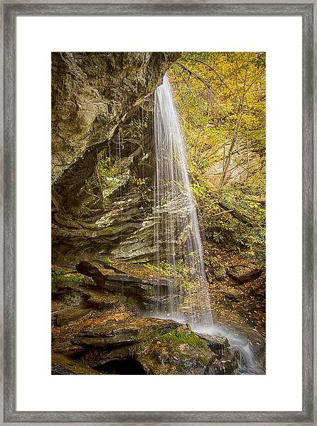 Window Falls In The Autumn Framed Print