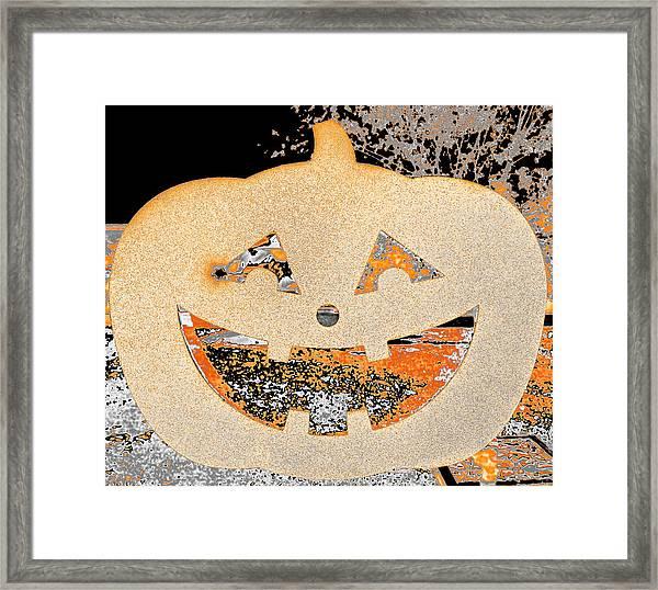 Window Pumpkin #3 Framed Print