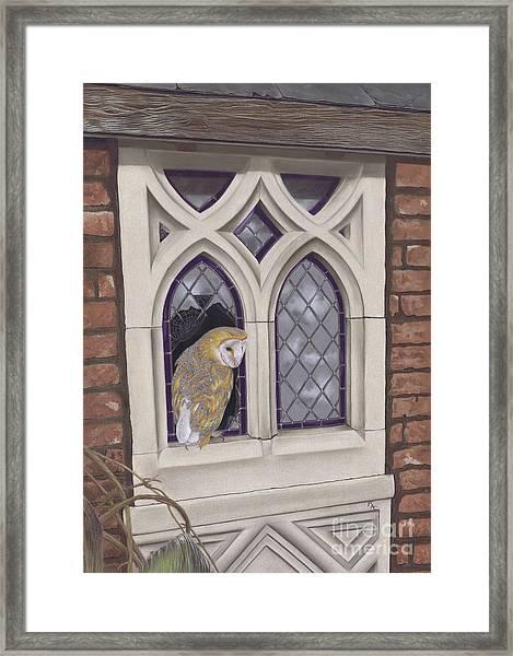 Window Shopping Framed Print