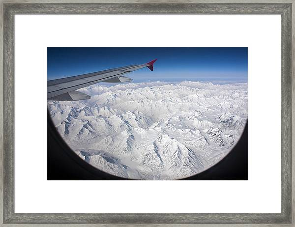 Window To Himalaya Framed Print