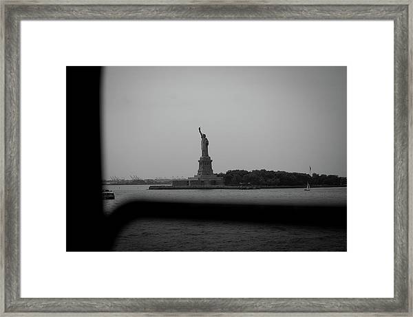 Window To Liberty Framed Print