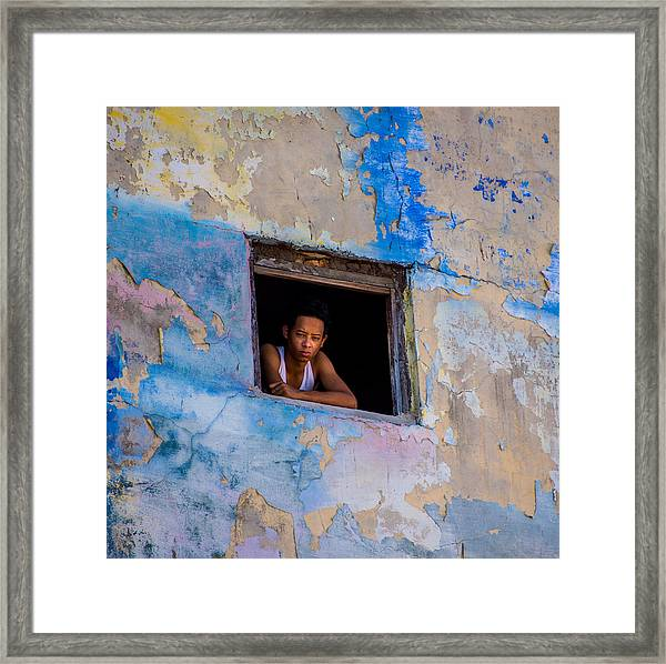 Window To The World Framed Print
